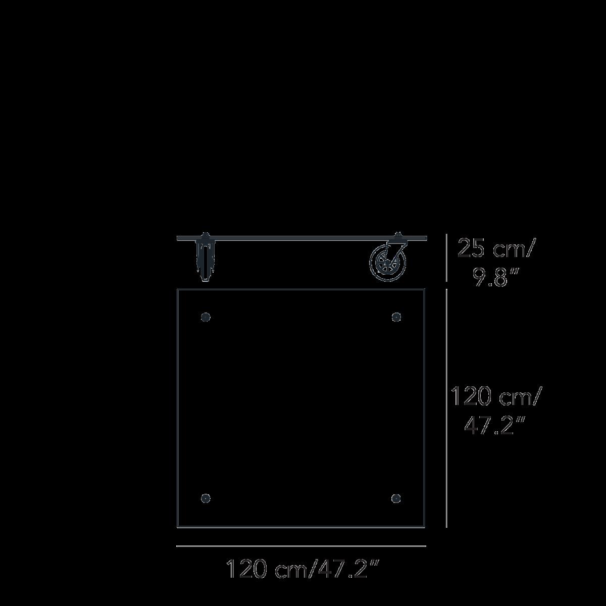 TAVOLO CON RUOTE XL